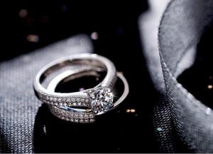 2018 Новый Wieck Real Solitaire 5 мм имитация Diamant 925 стерлингового серебра женщины обручальное кольцо набор обручальное кольцо размер 4-9