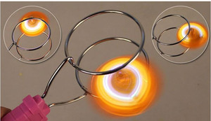 Magic LED gyroscope flash toys stall selling magnetic spinning top track yo-yo good toy for kids