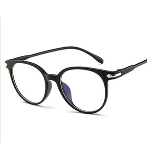 Moda Kadınlar Şeffaf Gözlük Çerçeve Kadınlar Retro Gözlük Çerçeve Vintage Yuvarlak Şeffaf Lens Gözlük Miyopi Optik Gözlük Fram