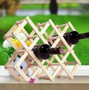 Massivholz wine rack Kiefernholzwein kreative Klappholzweingestell Ornamente Mehr abgefüllte Verzierung Holzfarbe Rack