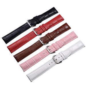 Leather Watchband Black Brown Women Men Watch Band 24 22 20 18 16 14mm Leather Straps Belt Metal Buckle