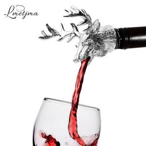 Acier inoxydable Cerf Stag Head Verseur De Vin Unique Bouchons De Bouteille De Vin Aérateurs De Vin Bar Outils