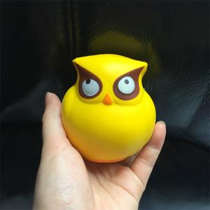 Bonito dos desenhos animados brinquedos elásticos aliviar o stress amarelo coruja forma Jumbo Squishy simulação PU macio Squishies alta qualidade 8yr VB