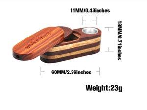 Portable creative Mini pipe wood double layer pipe