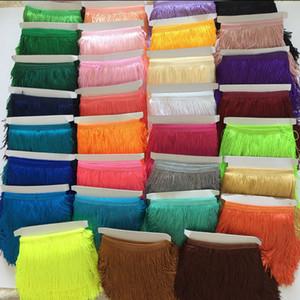 (10 yards/lot) 15 cm polyester borlastassel Fringe kırpma dantel Latin elbise Samba Sahne zakka patchwork tekstil perde dantel