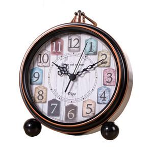 الإبداعية طالب على مدار الساعة مكتب حديد مشغول على مدار الساعة المزخرفة، وشخصية على مدار الساعة الرجعية التنبيه لمكتب دراسة غرفة نوم
