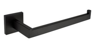 Kurşunsuz 304 katı Paslanmaz çelik siyah renk bitirmek Kare Havlu Halka Havlu Tutucu Havlu Bar banyo donanım aksesuarları donanım SM005