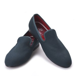 Novità Five Colors Men Special Hemp Handmade Shoes Men Plus Size Slip-On Party and Prom Mocassini Fashion Men Flats