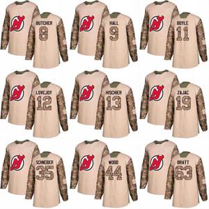 2018 카모 참전 용사의 날 13 니코 히치 어 11 브라이언 보일 39 브라이언 기븐스 40 블레이크 콜먼 뉴저지 데빌 스 맞춤 하키 유니폼