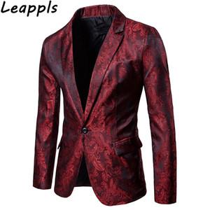 Leappls Blazers Erkekler moda Akıllı Rahat Tek Buon Elbise ceket mens blazer ceket slim fit casaco masculino giysi 2018
