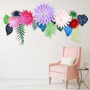 Dev Kağıt Çiçekler Çok Boyutu Renkler DIY Yarım El Yapımı Sahte Yaratıcı Çiçek Ev Düğün Parti Dekorasyon 6 5zh6 ii