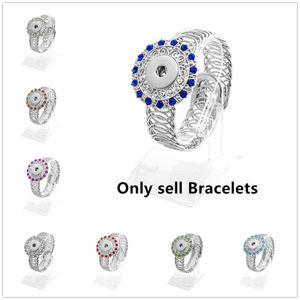 Kadın Moda Charm Bilezik Retro renkli gümüş bileklik 18 MM Zencefil Snap Düğmesi Aksesuarları El Yapımı diy takı manşet Bileklik