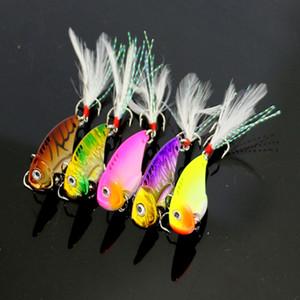 VIB018 100 PCS Métal VIB Pêche Leurres Coloré vib 11 G 5.5 CM Dur Pêche Tackle Basse Crank Bait Blade Lure