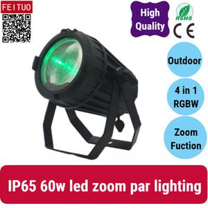 8x luci led par impermeabile 60W COB zoom par 4in1 luce rgbw IP65 fase di illuminazione