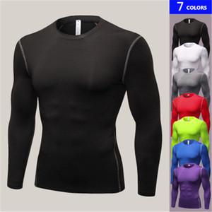 Marca de invierno Gimnasio Camisa de fitness Manga larga Hombres Deportes Ejercicio físico al aire libre Camisa de Fitness Hombre de secado rápido Compresión Ropa de entrenamiento XXXL