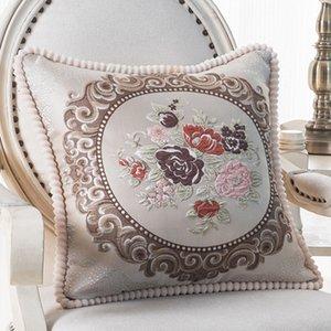 سيارة ساحة جاكار أنيقة الأزهار الزخرفية وسادة ليغطي أريكة المنزل الديكور ساحة الكلاسيكية رمي سادة القضية
