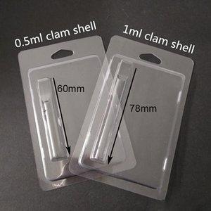 Embalagem Blister Varejo Clam Shell Para 0.5 ml Cartuchos Vape 510 Rosca Grossa Atomizador De Óleo Cartuchos Th205 celular