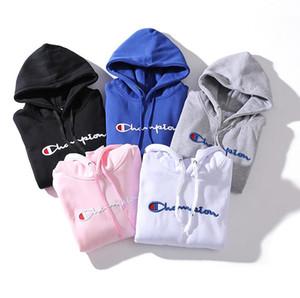 2018 Nueva Moda Hoodie Hombres Mujeres Sudadera Tamaño S-XXL 5 Color Mezcla de algodón bordado grueso Diseñador Sudadera con capucha Jersey de manga larga Streetwea