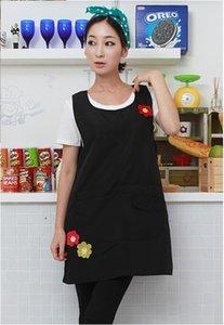 Schürzen ärmellose hohe Qaulity Kindergarten Kleidung Küchenschürze für Frau Kochen Kaffee Tee Nail Shop Work Wear Print Logo