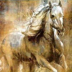 عالية الجودة HD باليد الفن طباعة ملخص الحيوان الفن الحديث النفط الطلاء الحصان الأبيض على قماش الرئيسية ديكور الحائط متعدد حجم A02