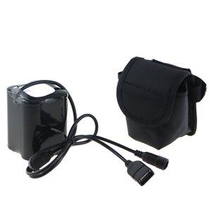 8.4V 20000mAh 26650 USB + DC Port Lumière de bicyclette Puissance 4x26650 Batterie avec filetage à vis pour Solarstorm X2 X3 T6 ECT Y1892809