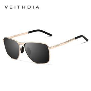 Veithdia Marka Erkek Vintage Kare Güneş Polarize UV400 Lens Gözlük Aksesuarları Erkek Güneş Gözlükleri İçin Erkekler Kadınlar V2462