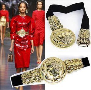 Nuevo Cinturón de Lujo Desiger Cinturón Mujer Dama Meatal Cinturones Elásticos Accesorio de Moda Cinturones Cinturones Anchos Cintura Elástica Cinturón Vestido de Las Mujeres