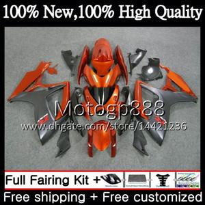 SUZUKI GSX R600 K6 için gövde GSX-R750 Turuncu gri GSXR 600 06 07 25PG17 GSXR600 GSXR750 06 07 GSXR 750 GSXR600 2006 2007 Fairing Karoser