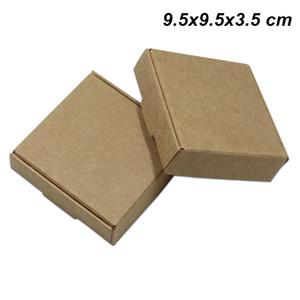 9.5x9.5x3.5 см 20 шт. крафт-бумага упаковочные коробки ручной работы мыло для свадьбы пакет коробка доска партии подарки ремесло бумаги ящики для хранения