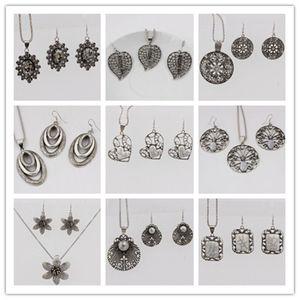 Set di gioielli in acrilico con cristalli turchesi in cristallo moda stile 8