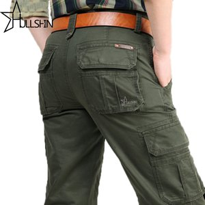 2017 Brand Mens Fashion Military Cargo Pants Multi -Pockets Baggy Men Pants Casual Trousers Overalls Army Pants Joggers 2155