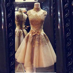 Venta caliente Champagne Prom Dresses Cocktail 2018 Vestidos Curtos De Festa Vestido corto Graduation Dress para Juniors