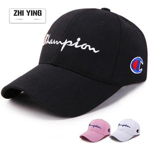 Masculino e feminino versão Coreana Cap Viseira Carta bordado Boné de beisebol moda Chapéu de golfe novo estilo atacado