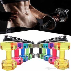 New 2.2L criativa Dumbbell em forma de Desporto Aquático Cup Chaleira Fit Beba Gym Garrafa BPA Grátis