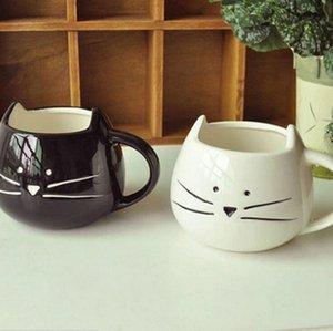선호하는 귀여운 고양이 커피 잔 동물 우유 머그컵 세라믹 창조적 인 커피 도자기 차 컵 멋진 선물 2019 새로운