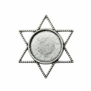 10 Pièces Cabochon Cameo base Plateau Bezel Résultats Blank bijoux bri étoile seul côté intérieur Taille 20 mm ronde résine flatback cabochons