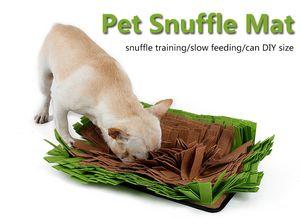 Venta al por mayor 1 UNIDS Pet Snuffle Mat Nosework Estera del entrenamiento del perro del perro Estera de alimentación Del Perro Delicioso Estera de Juguete Nariz de Trabajo para la liberación de estrés