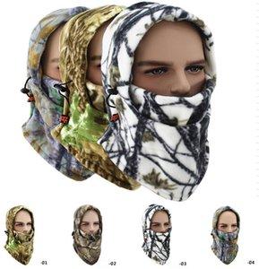 다기능 양털 마스크 모자 모자 스키 겨울 얼굴 두건 마스크 사이클링 Camo Windproof Cap 얼굴 마스크 따뜻한 스키 오토바이 후드 스노우 보 AUVK