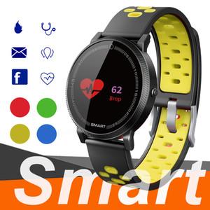 F4 Смарт браслет Часы группы фитнес-трекер артериального давления Монитор сердечного ритма Термометр шагомер для Android Wristband Smartphone