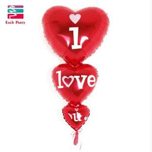 Свадебные украшения романтические воздушные шары сердца siamesed я люблю тебя фольгированные шары mariage гелий надувные воздушные шары для вечеринок