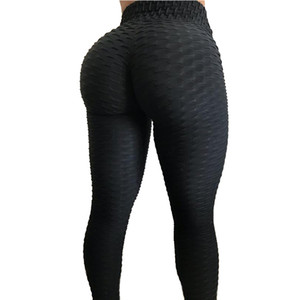 Neue Boosty Butt Fitness Weibliche Elastische Dünne Hosen Leggins Jacquard Weave Leggings Sportliche Frauen Strukturierte Workout Leggings