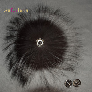 Big Genuine Real Silver  Fur Pompom Fur Pom Poms Hair Accessories Pompon Ball For Shoes Hats Bags