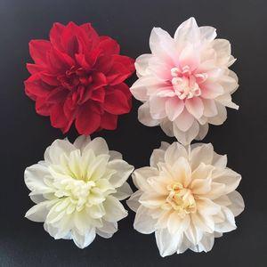 Nova 12 cm Dahlia Flor Cabeça Simulação Dahlia Peony Fundo Do Casamento Decoração Flor Falsa DIY Flor De Parede