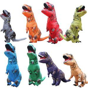Yetişkin Şişme Dinozor T-REX Kostüm Fantasia Yetişkinler Cadılar Bayramı maskot Kostüm