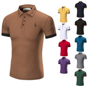 polo à manches courtes pour hommes de marque polo shirt hommes polos costume golf classique style M-3XL