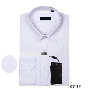 Мода 2018 Роскошные Мужские Рубашки С Длинным Рукавом Мужская Рубашка Черный Белый Рубашка Slim Fit Высокое Качество Хлопок Сорочка Homme