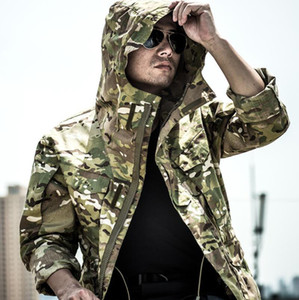 High Quality Brand Clothing Autumn Men's Camouflage Jacket Tactical Jackets Male Camouflage Windbreakers Coats Free Shipping