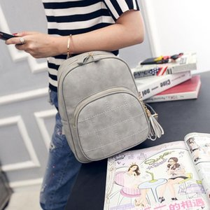 Rucksack-Frauen PU-Leder Rucksack der neuen Frauen-Schulter-Beutel-Qualitäts-Handtaschen Summer School Taschen Fashion Rucksäcke College Style