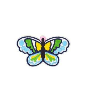 DIY 10pcs mariposa bordado de la raya Ropa Parches para apliques de accesorios suministros Parche de pegamento de costura de ropa Telas Placas Patch