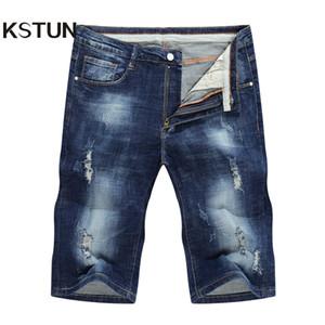 KSTUN Jeans homme short extensible déchiré déchiré en denim pantalon cargo jeans skinny joggers pantalon long du genou justin peppe